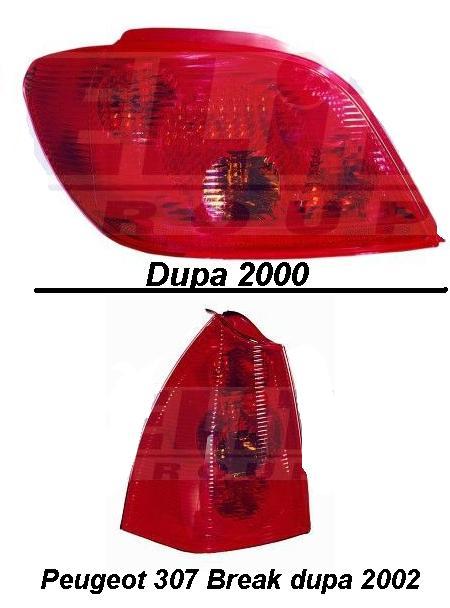 Pret stopuri stanga, dreapta Peugeot 307 2000-prezent